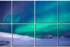 Aurora Borealis in the Arctic   mosaic wall art 8 pieces 8×8″ PhotoSquared photo tiles