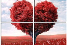 Love Tree   mosaic wall art 4 pieces 8×8″ PhotoSquared photo tiles