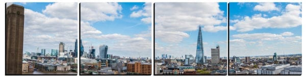 London Skyline from the Tate Modern on stylish PhotoSquares