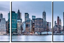 New York City Skyline   mosaic wall art 5 pieces 8×8″ PhotoSquared photo tiles