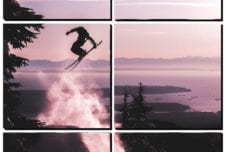Ski Jump at Sunset mosaic wall art 6 pieces 8×8″ PhotoSquared photo tiles
